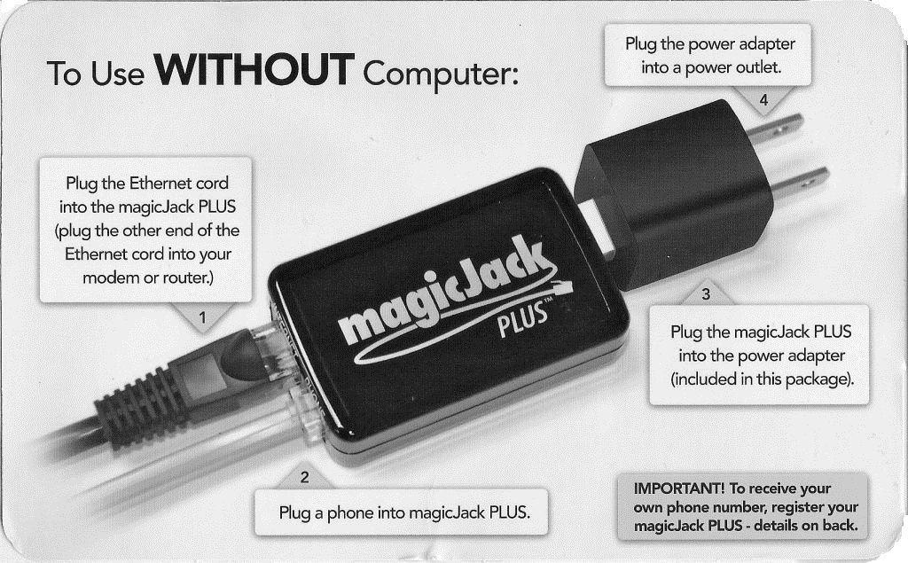 magicJack Plus 2014 installation without computer