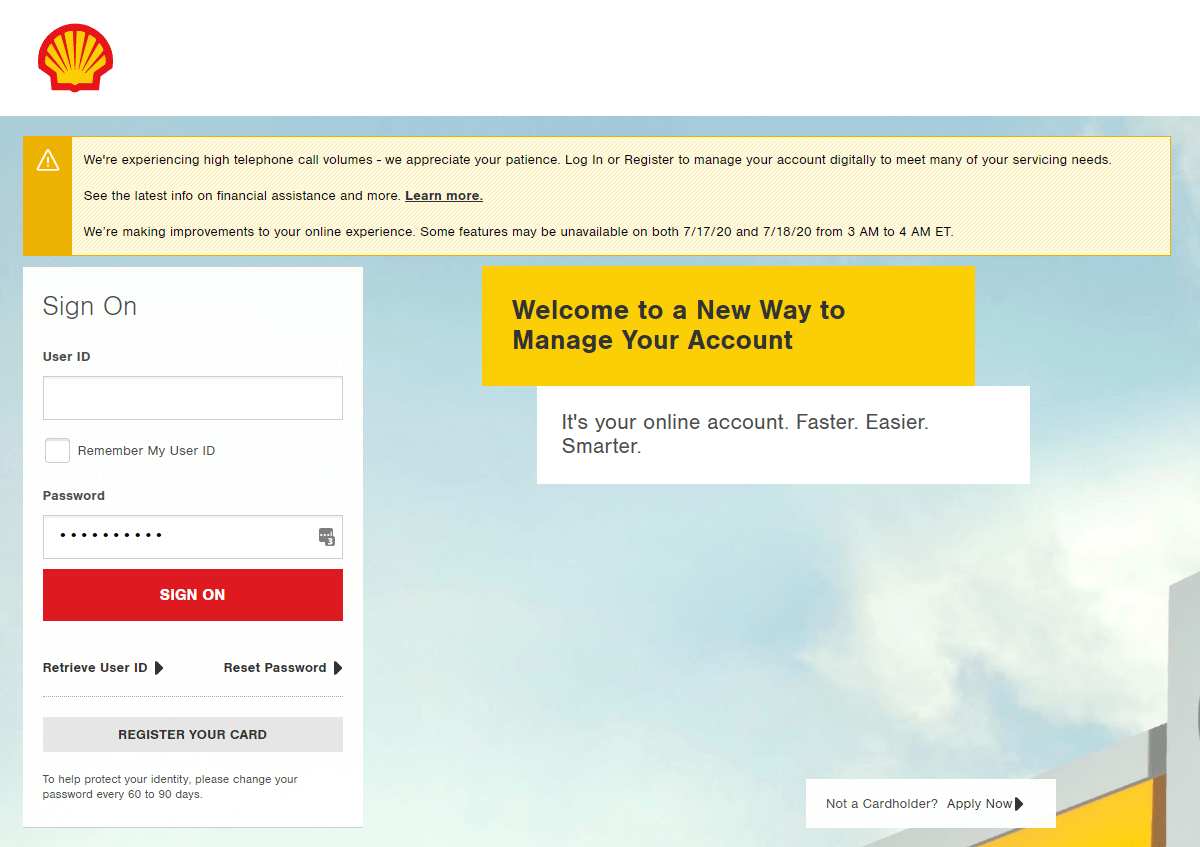 www.Shell.AccountOnline.com Apply Now