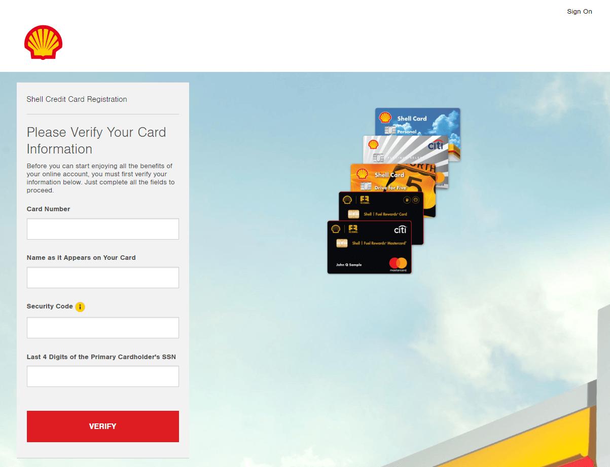 Shell.AccountOnline.com website