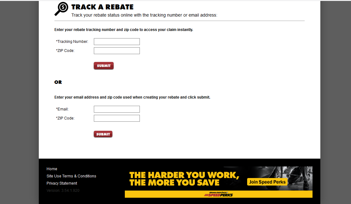 Advance Auto Parts track rebate