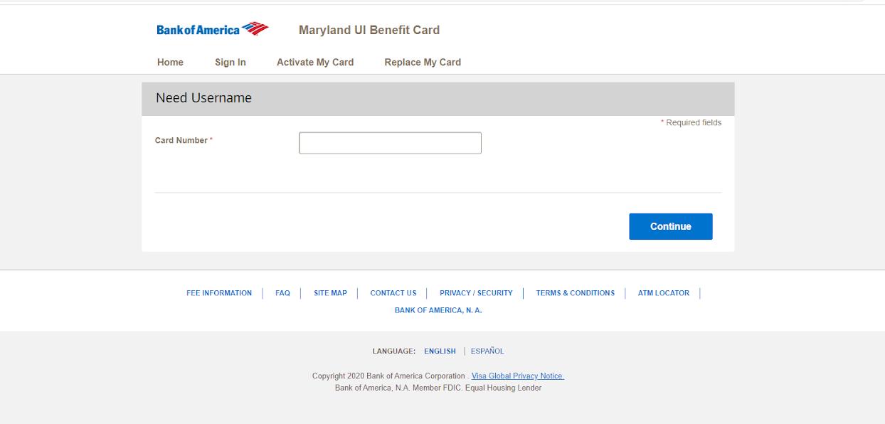Bank of America MDUI login