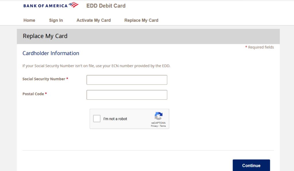 bofa edd card
