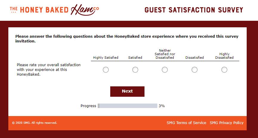HoneyBaked Feedback Survey