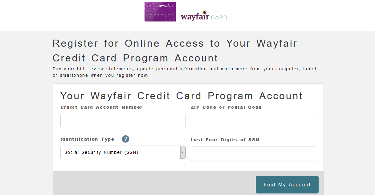 Comenity Wayfair Credit Card