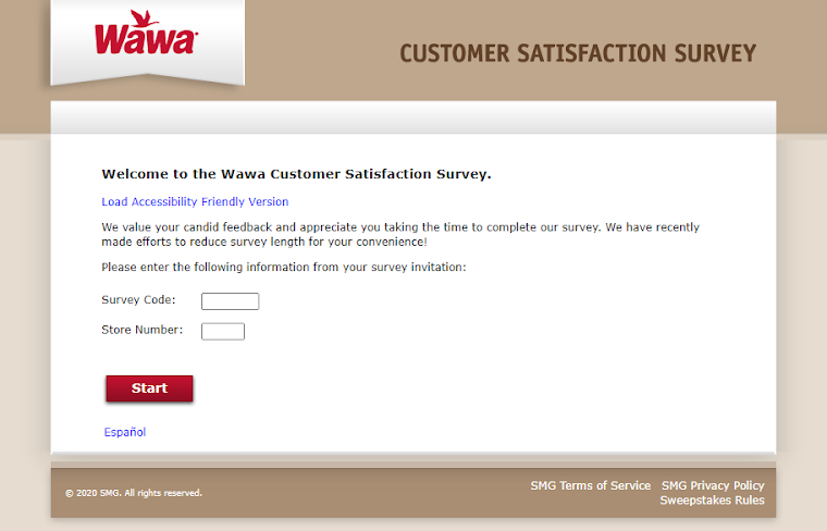 My Wawa Visit survey