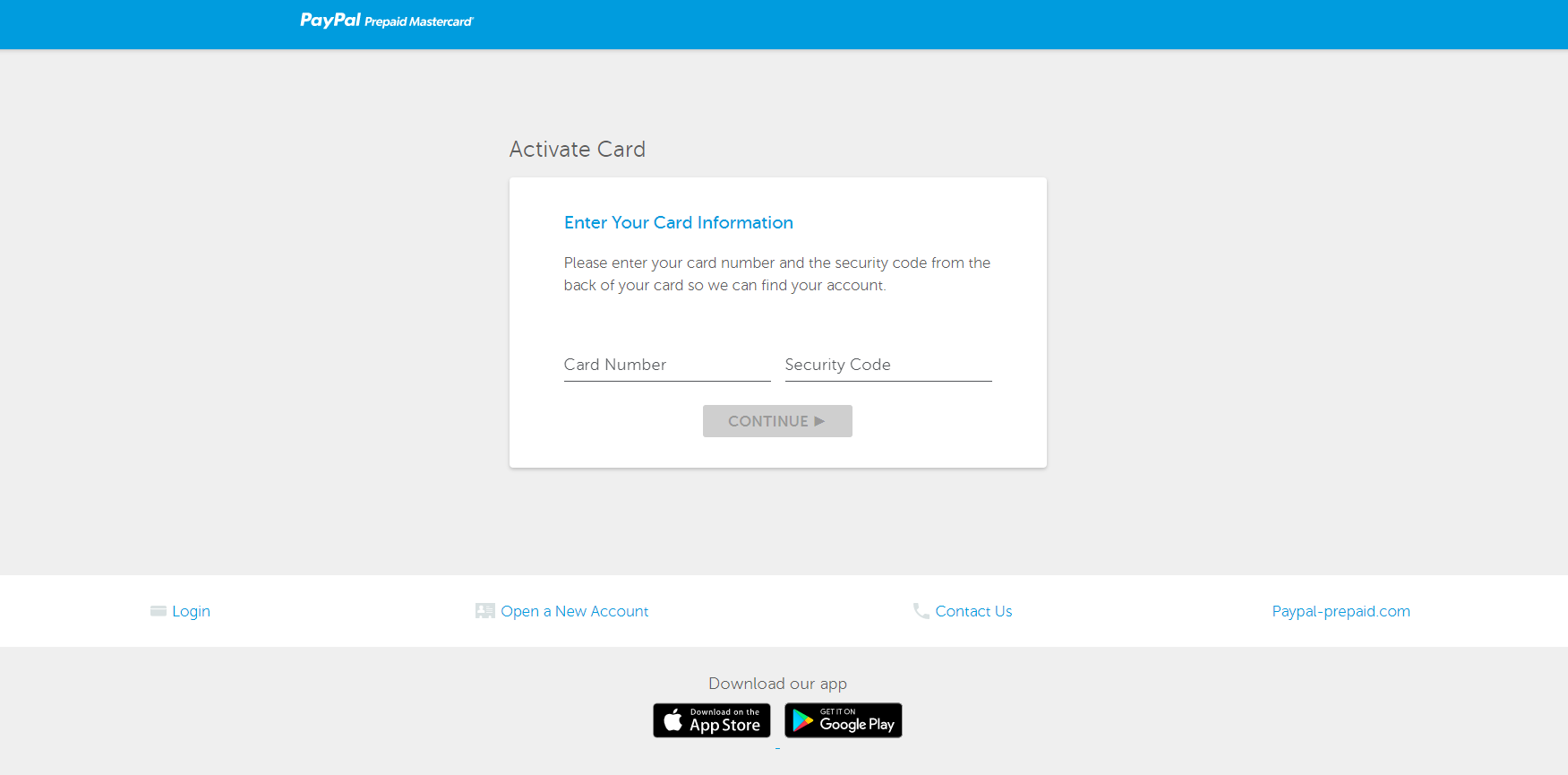 activate paypal card