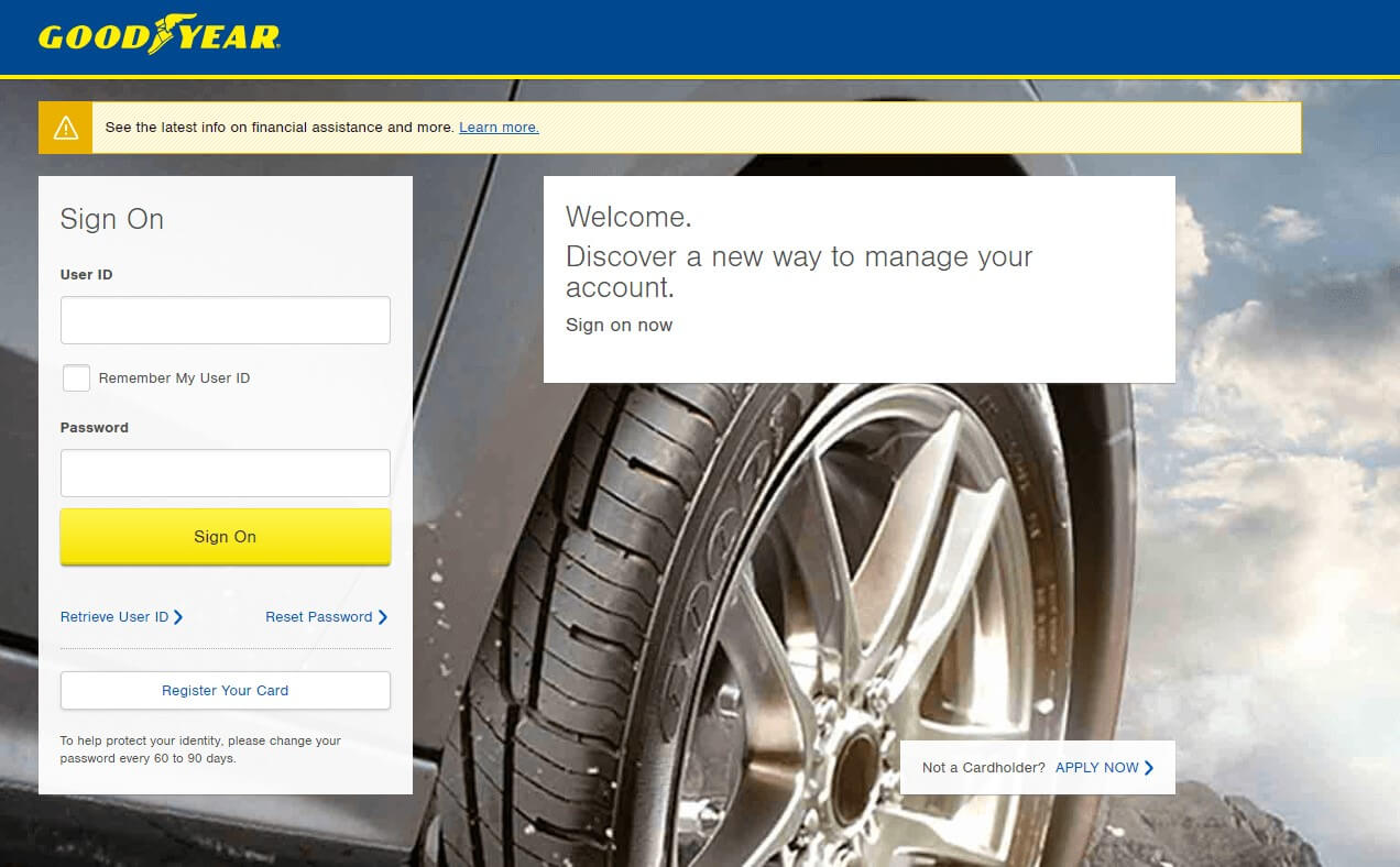 Goodyear Account Online