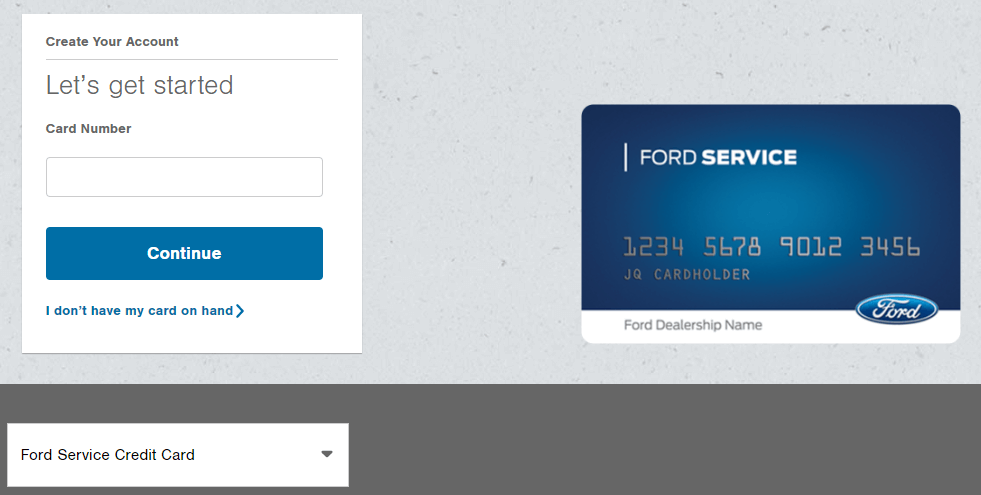 FordServiceCard.AccountOnline.com
