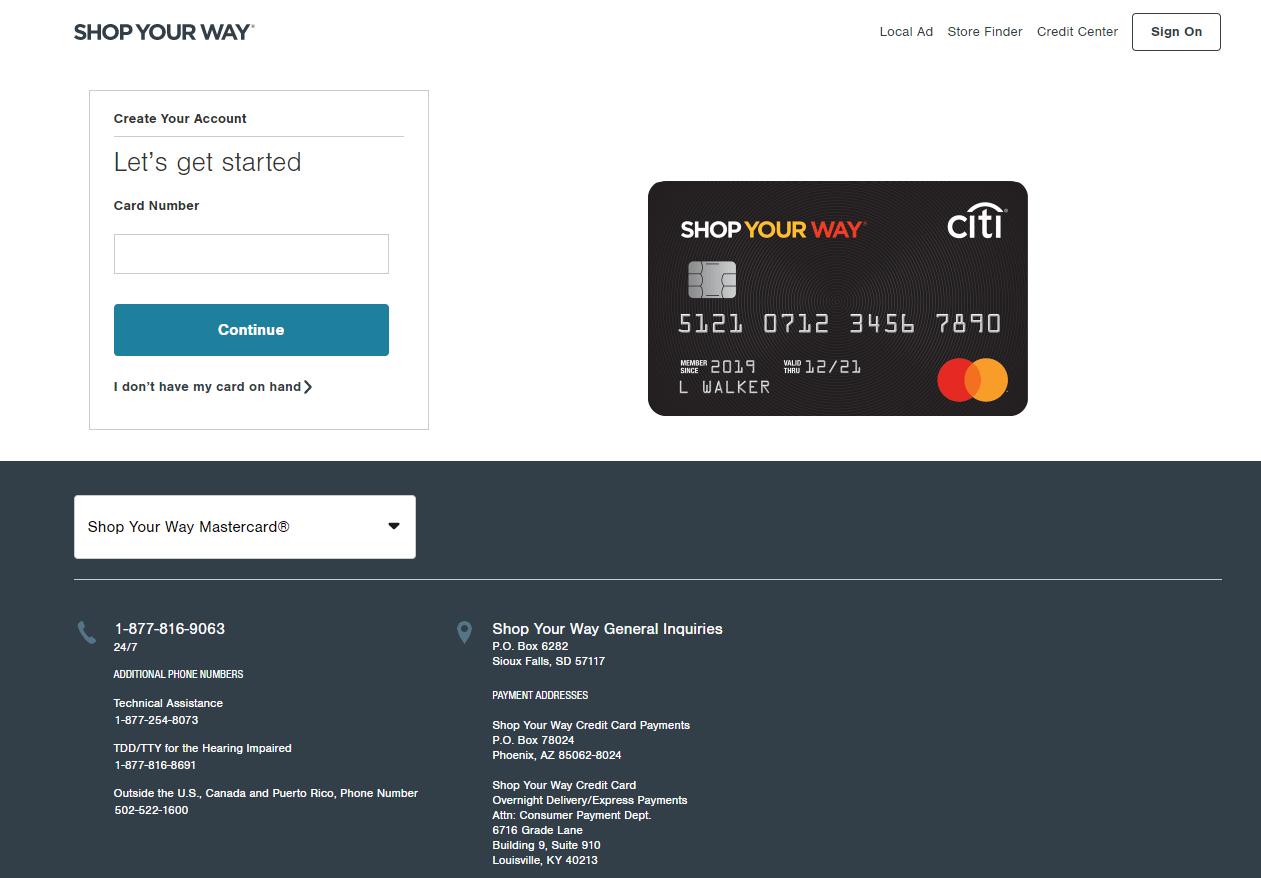Shop Your Way Mastercard