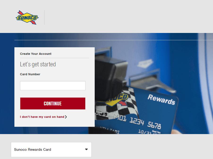 Sunoco card register
