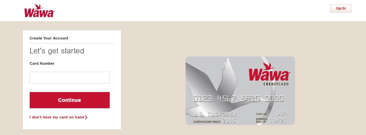 Wawa gas card registration