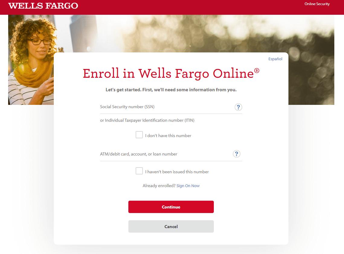 Wells Fargo enroll
