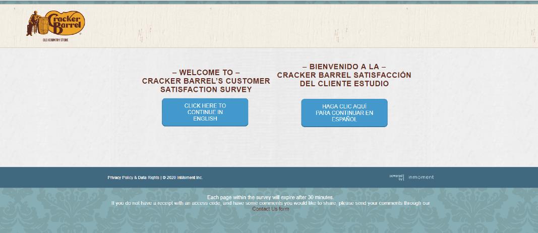 CrackerBarrel survey