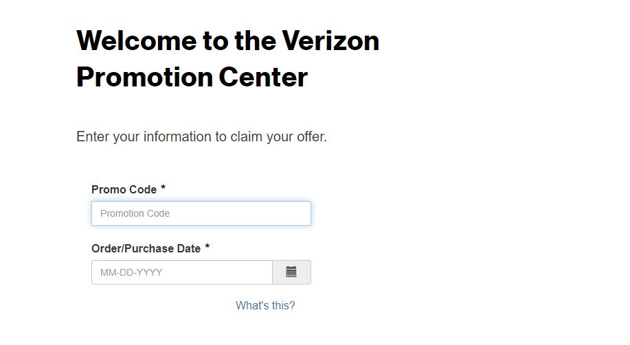 Verizon Digital Rebate Center